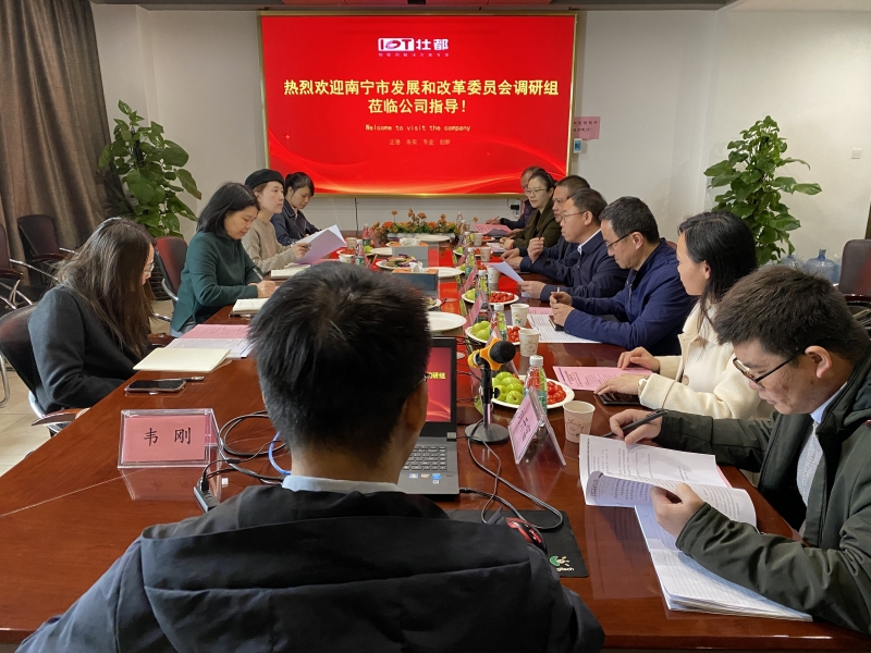 南宁市发展和改革委员会调研组莅临公司指导工作